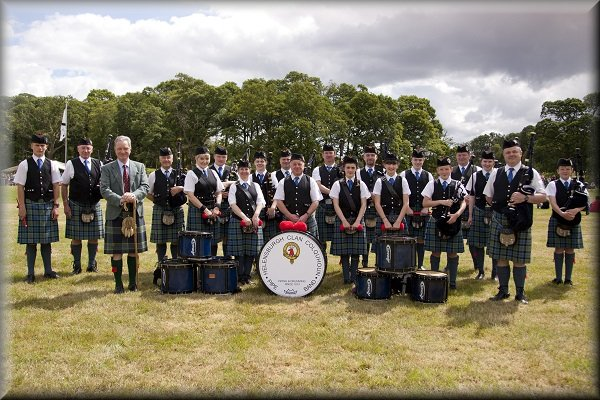 Luss Highland Games 2014 with Sir Malcolm Colquhoun